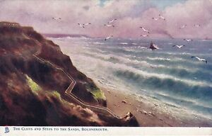 The-Cliffs-amp-Steps-To-The-Sands-BOURNEMOUTH-Hampshire-Tuck-Oilette