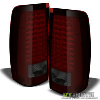 2003-2006 Chevy Silverado 04-06 Gmc Sierra Red Smoked Led Tail Lights Left+right on sale