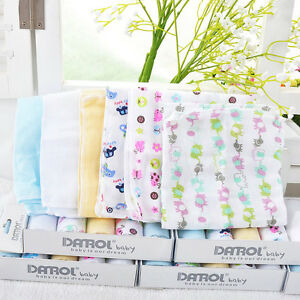 5Pcs Baby NewBorn Gauze Muslin Square Cotton Bath Wash Handkerchief Towels