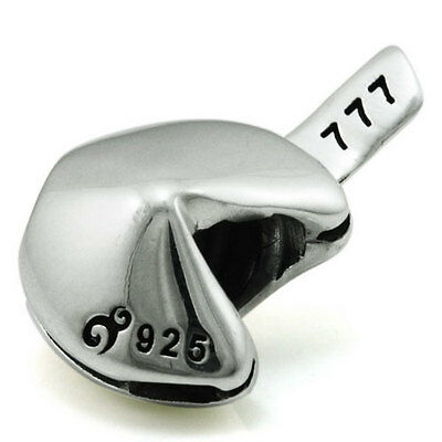 Fortune Cookie Genuine Solid Sterling Silver Charm OHM Bead WHB069