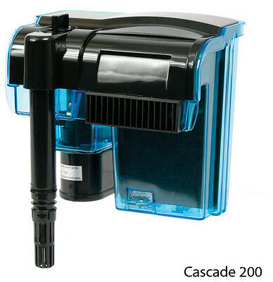 CASCADE 200 AQUARIUM POWER FILTER. UP TO 50 GALLON FISH TANKS