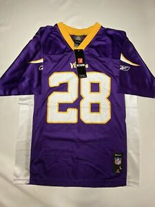 Details about Adrian Peterson MINNESOTA VIKINGS # 28 Reebok Authentic NFL Jersey Youth L New