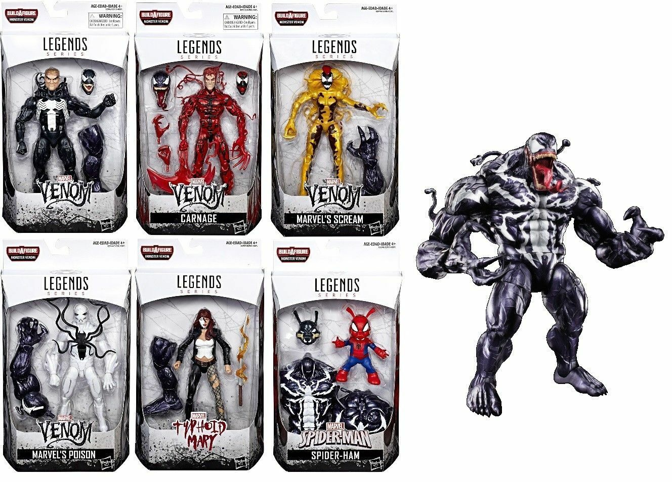 Marvel Legends Venom 6 inch Figure Wave Carnage Scream Spider-Pig Mary Pre-Order