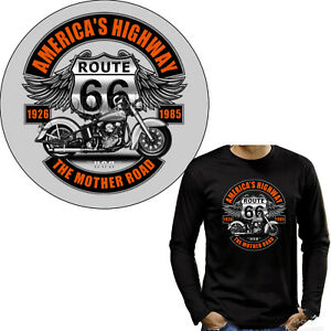 Biker T-Shirt Motorrad american classic Harley-Motiv USA Tour *4282 grau
