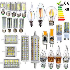 r7s e27 e14 g9 g4 led leuchtmittel filament stecklampe maislampe lampe dimmbar ebay. Black Bedroom Furniture Sets. Home Design Ideas