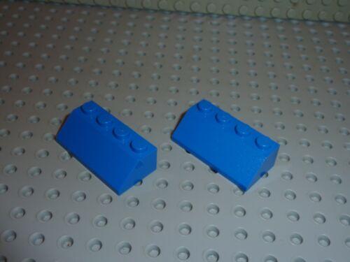 Set 322//1082//4536//733//980//3739//610//318//376 2 x LEGO Bleu Slope Brick ref 3037