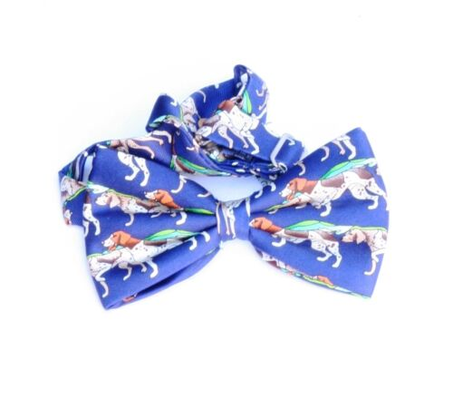 German shorthaired Pointers on Blue Background Silk Bow Tie New Shooting Gift
