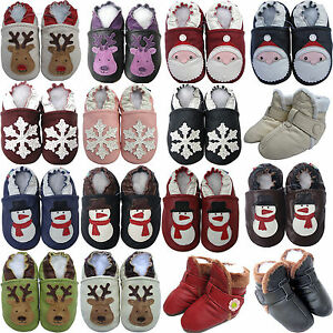 carozoo UK leather soft sole shoes baby/kids slippers  boots up to 8 years old