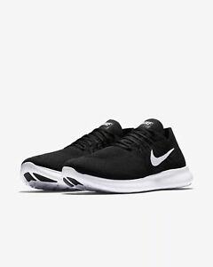 b00a7c825f75 Men s Nike Free RN Flyknit 2017 Running Black White Sizes 8-13 NIB ...