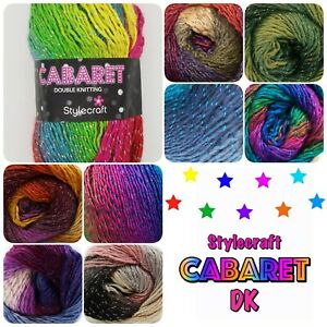 Stylecraft-Cabaret-DK-Sparkle-Variegated-Multicolour-Double-Knit-Wool-Yarn-100g
