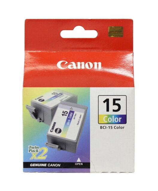 Canon BCI-15 Tri-Color Ink Cartridge 8191A003 Genuine New Sealed Box (1/2/3Pk)