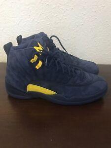 the best attitude 55c22 0f125 Details about Nike Air Jordan 12 Michigan Retro Size 10