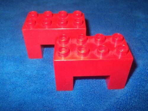 Lego Duplo Railway 2 X Bridge Stone for Bridge Stone Red 6394 from 10518