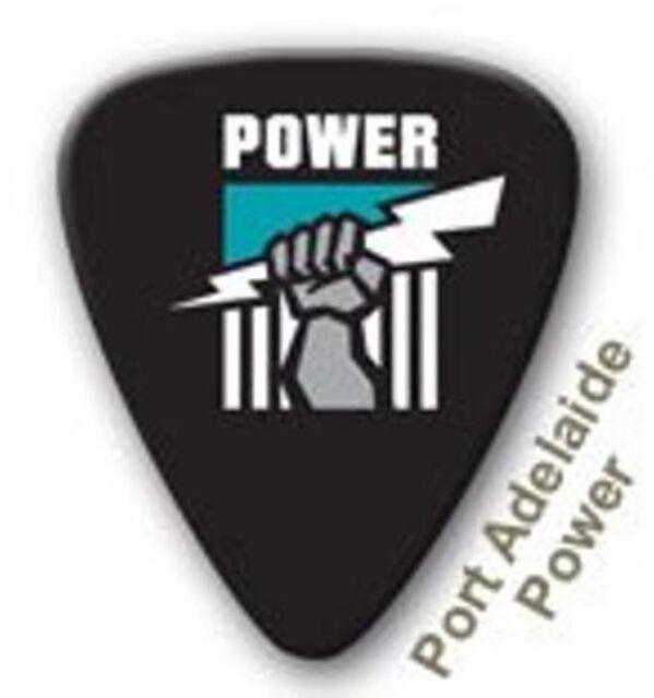 Port Adelaide Power Guitar Picks 5 Pack, Official AFL Product