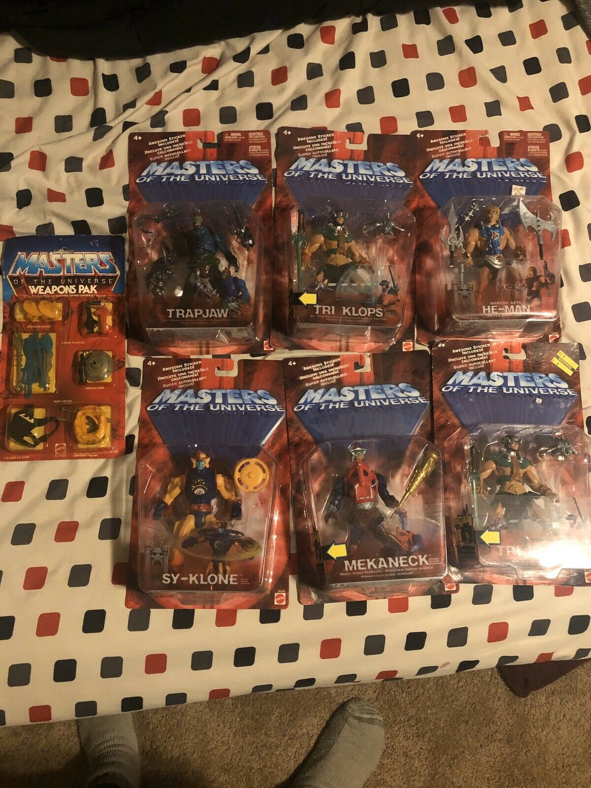 MOTU Collection, 2002 Tri Klops, He-Man, Trapjaw, Mekaneck, Weapons Pak and More