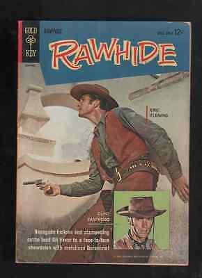 "1963 RARE 2ed ISSUE  "" RAWHIDE "" 12c WESTERN GOLD KEY ORIGINAL COMIC BOOK"