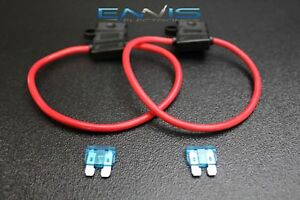 1 18 Gauge ATC Fuse Holders in-LINE AWG Wire Copper 12V Blade Waterproof EE