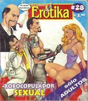 """DELMONICOS EROTIKA """"ROBOCOPULADOR SEXUAL"""" mexican comic SEXY GIRLS, SPICY #28"""