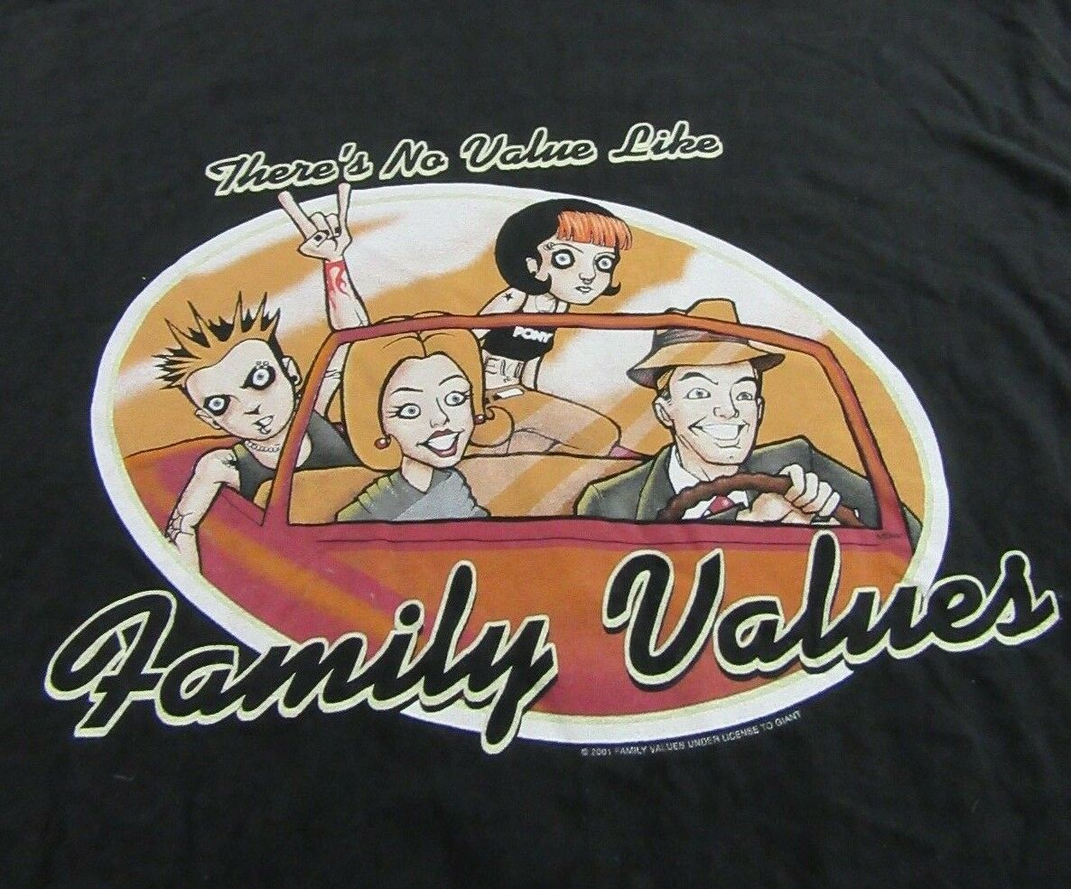 Vintage FAMILY VALUES TOUR Pony Linkin Park Nu Metal T Shirt Size XXL (RARE)
