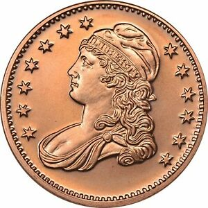 20 Ounces Of Copper 1 oz Each 1804 DRAPED BUST DOLLAR Design  Bullion Rounds