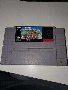 Super Mario Kart Authentic SNES Super Nintendo Game Tested Working authentic !