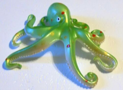 "4/"" Lt Green Octopus Tropical Fish Home Decor Beach Nautical Wall Plaque"