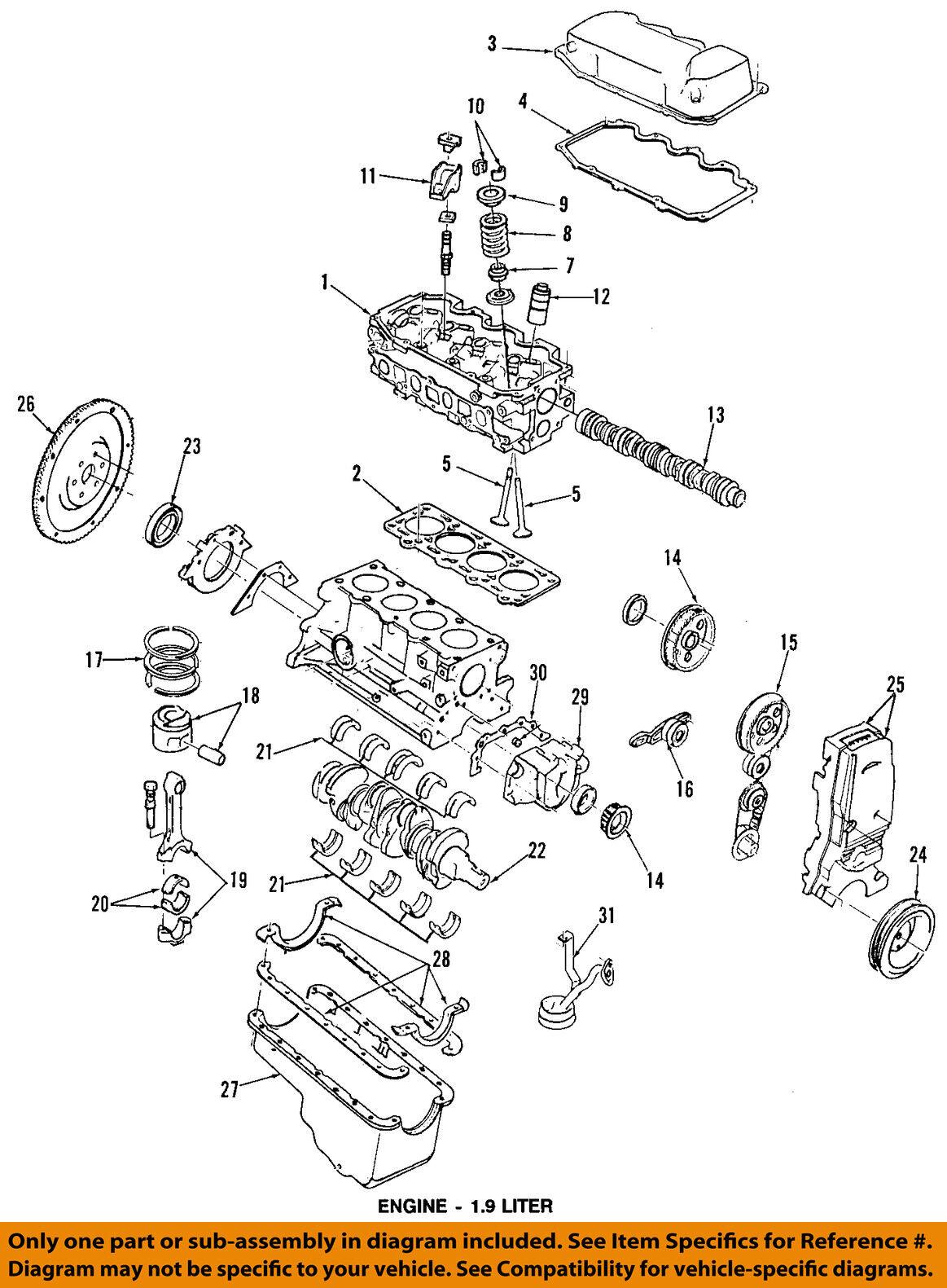 1 9 sefi engine diagram ford oem crankshaft crank gear f8cz6306aa for sale online ebay  ford oem crankshaft crank gear