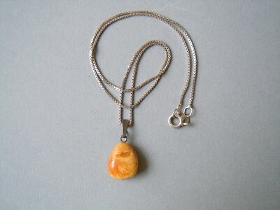 Kleiner Butterscotch Fluid Bernstein Fischland Anhänger Loose Gemstones 925 Silber Kette A Great Variety Of Models