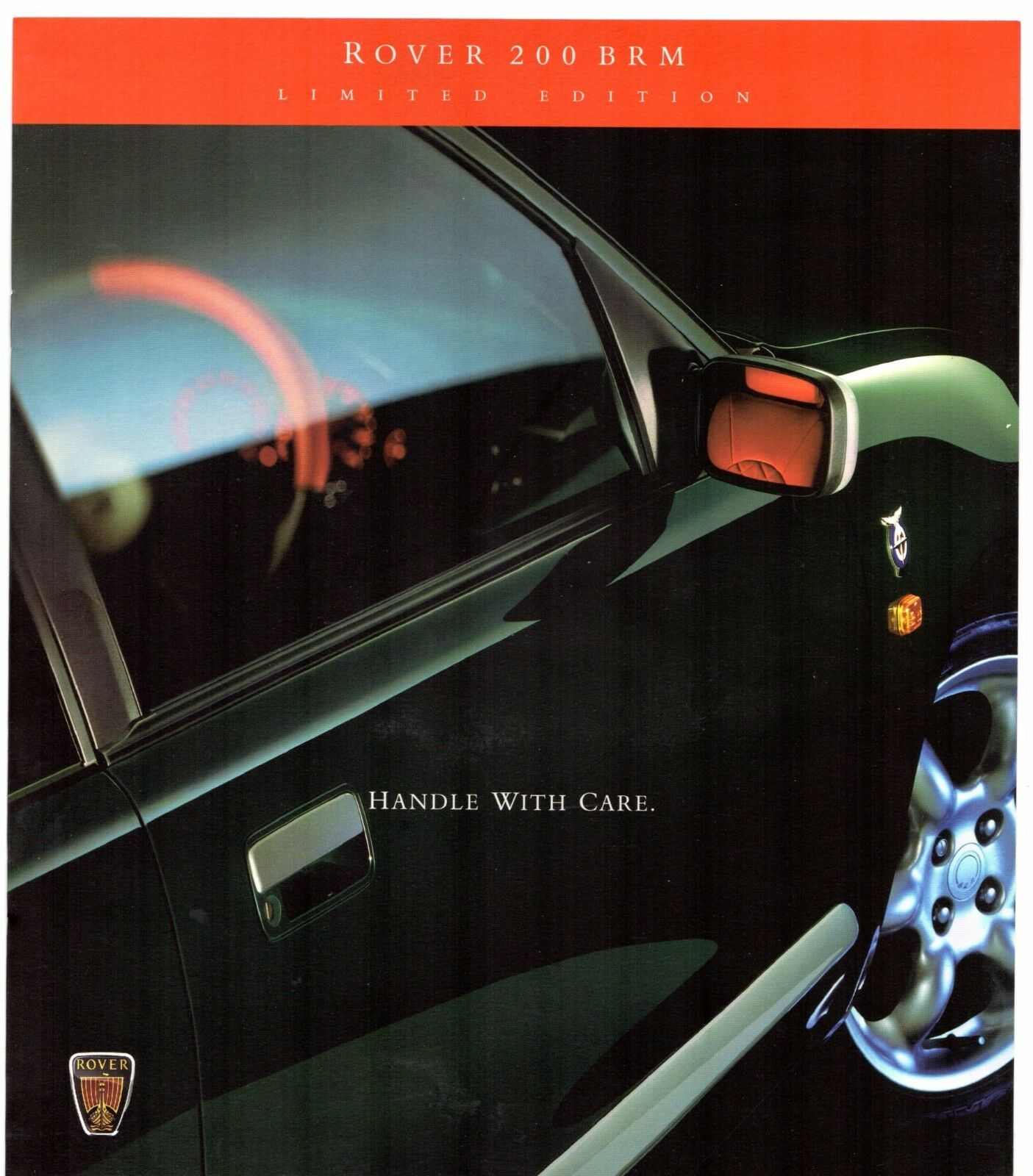 Rover 200-Series BRM Limited Edition 1998 UK Market Sales Brochure