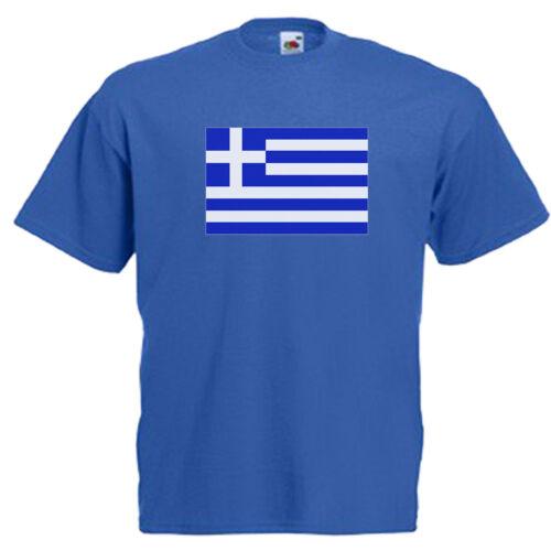 Greece Greek Flag Children/'s Kids T Shirt