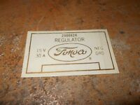 1958 1959 Ford Fairlane Ranchero Retractable Hardtop Voltage Regulator Decal