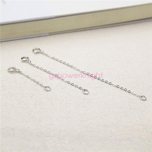 Genuine S925 Sterling Silver Chain Extender Necklace//Bracelet//Anklet Extension