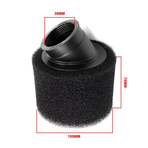 Black 45degree Angled Neck Fashion Design Air Filter 38mm 37mm For Dirt Pit Bike