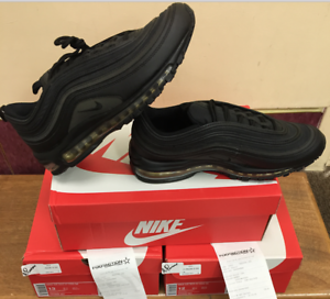 Nike Air Max 97 PRM SE Triple Black Reflective Gold AA3985-001 ... 5f2b368728b4