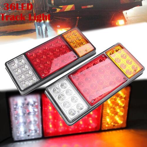 2x 36 LED Stop Brake Rear Tail Light Indicator Reverse Lamp 12V Trailer Truck RV
