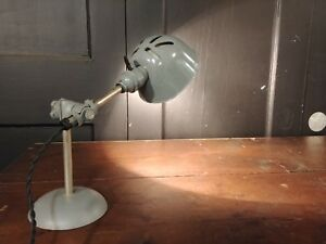 Swell Vintage Oc White Pharmacy Desk Lamp Rewired Industrial Table Lamp Wiring Digital Resources Nekoutcompassionincorg