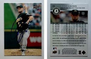 Chad Gaudin Signed 2008 Upper Deck #23 Card Oakland Athletics Auto Autograph