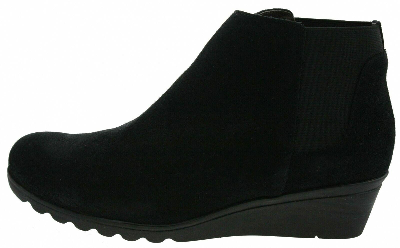 501916-1594 Liberitae 21503312 Keilabsatz Ankleboots Wildleder black EUR 41