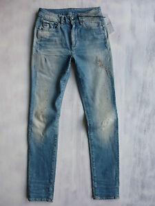 G-Star-Midge-Zip-mid-high-Super-Skinny-WMN-Jeans-Hose-Farbkleks-used-34-W27-L30
