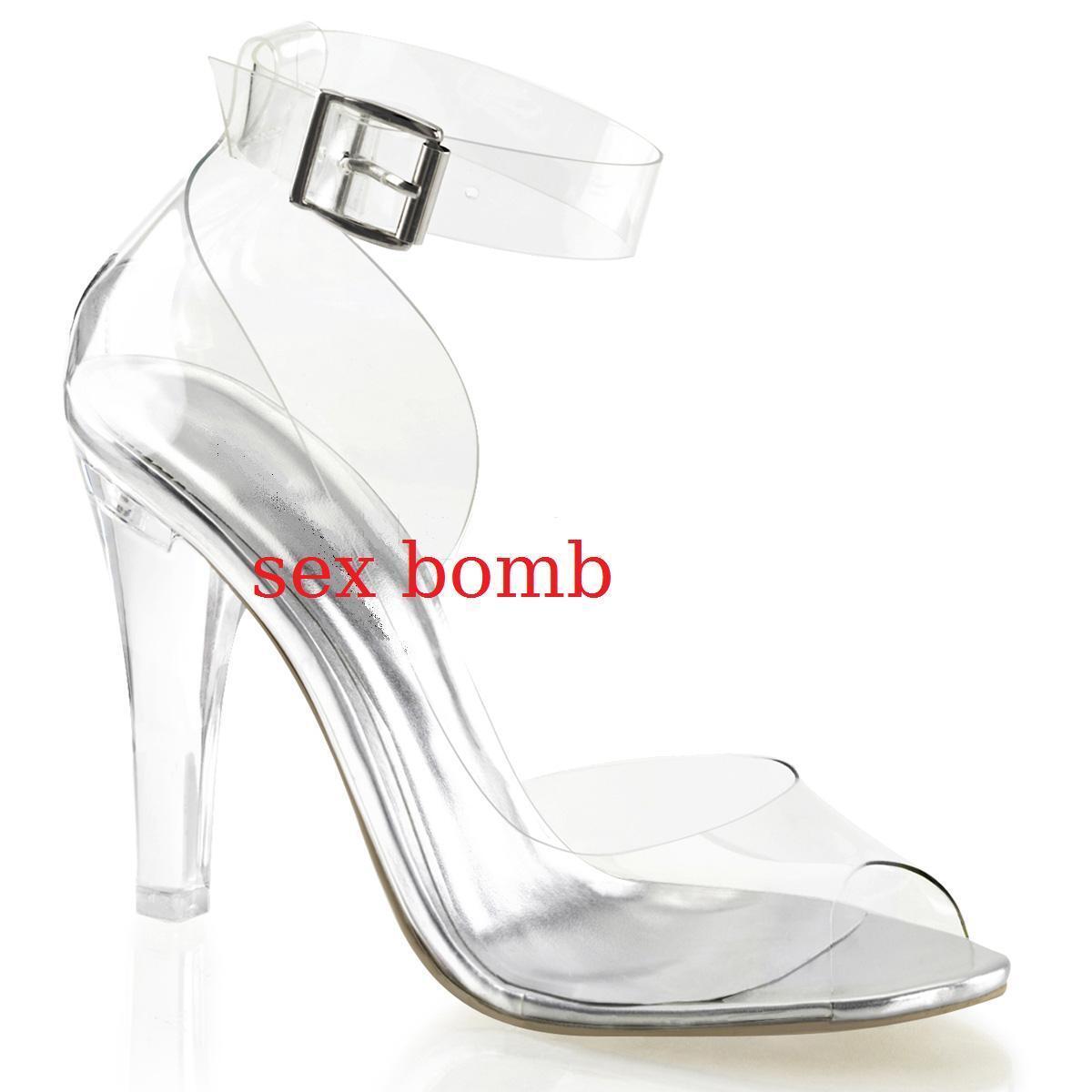 SEXY sandali zapatos TRASPARENTI tacco 11,5 da da da 35 al 42 cinturino fashion GLAMOUR  sorteos de estadio