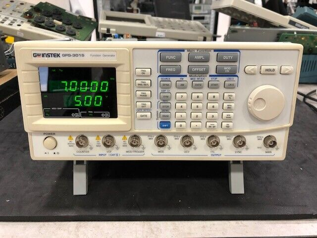 GW INSTEK GFG-3015 15MHz Function Generator with fresh calibration and warranty