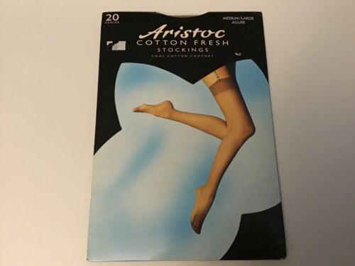 Aristoc Cotton Fresh Stockings in Allure  20 Denier  M//L New.