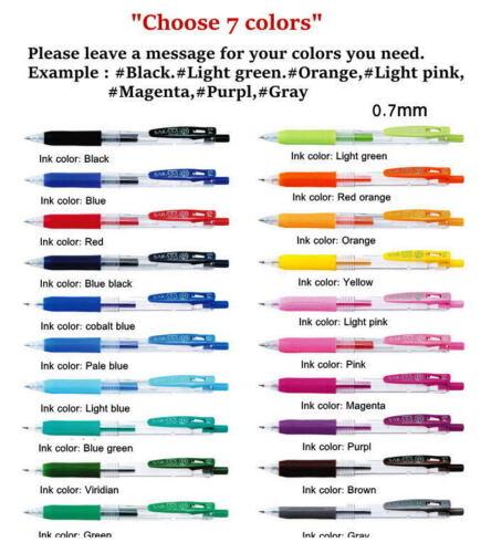 """JJB15 Zebra Sarasa Clip Gel Color Ink Pen 0.7 mm,/""""Choose 3 or 7 colors/"""""""