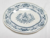 ANTIQUE WEDGWOOD MANDARIN BLUE RELISH DISH PLATE PRIOR TO 1891