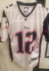 Vintage NFL Reebok New England Patriots Tom Brady Jersey Mens ...