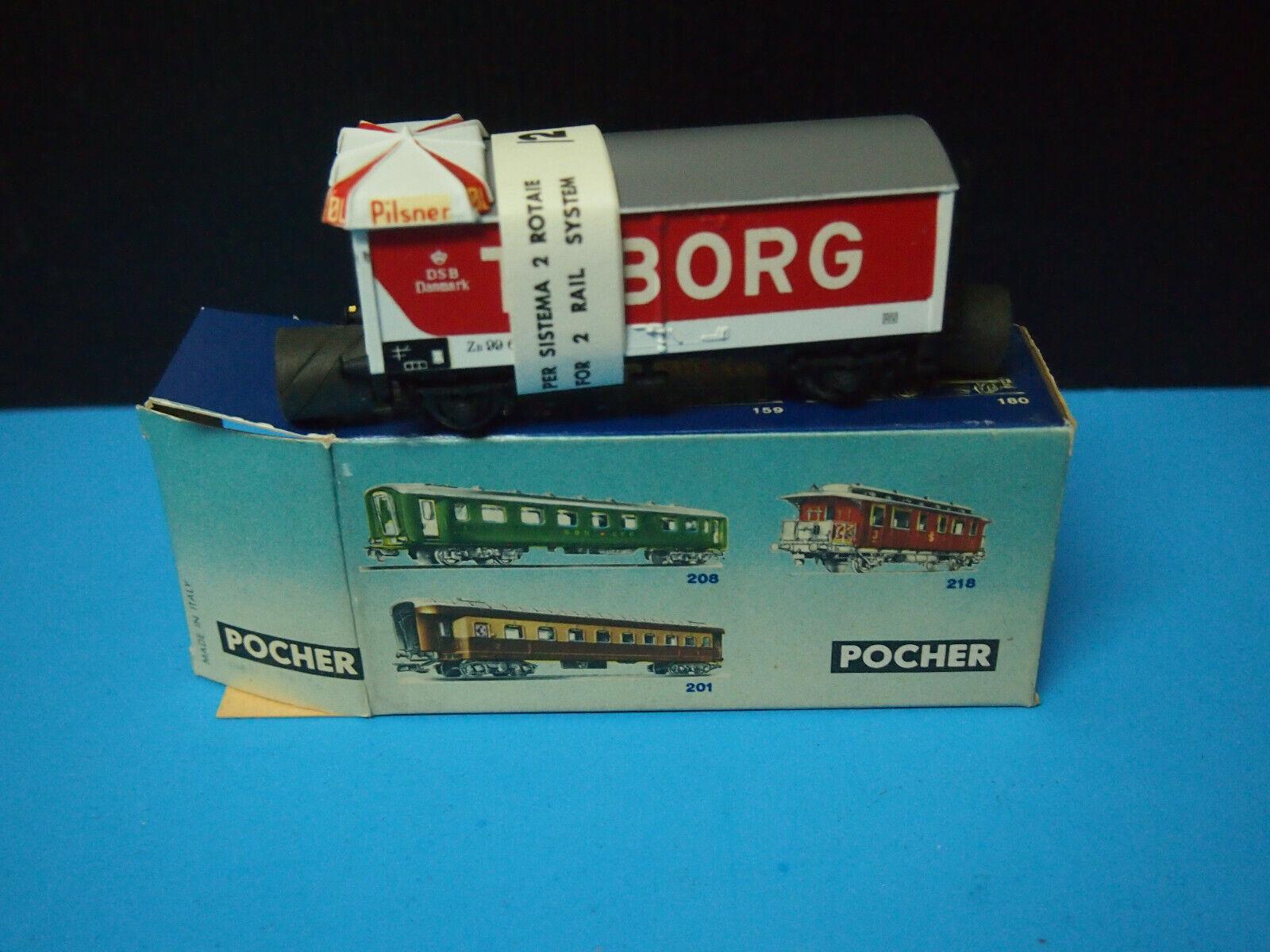 Pocher H0 326  Danish Goods Wagon Tuborg  Ovp