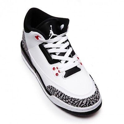 Air Jordan 3 Retro BG Infrared 23 White Black Cement 2014 GS Nike III 398614-123