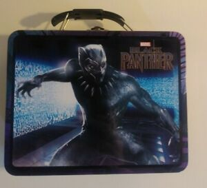 Black Panther Embossed Tin Lunch Box Pencil Art Case Marvel Collectible