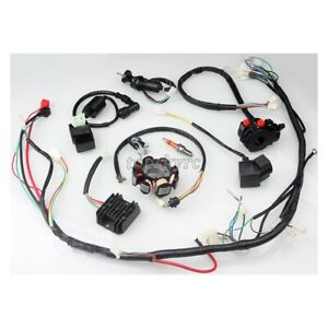 wiring harness kit for atv atv wiring harness kit quad go kart wiring harness 8pole for cg125  atv wiring harness kit quad go kart