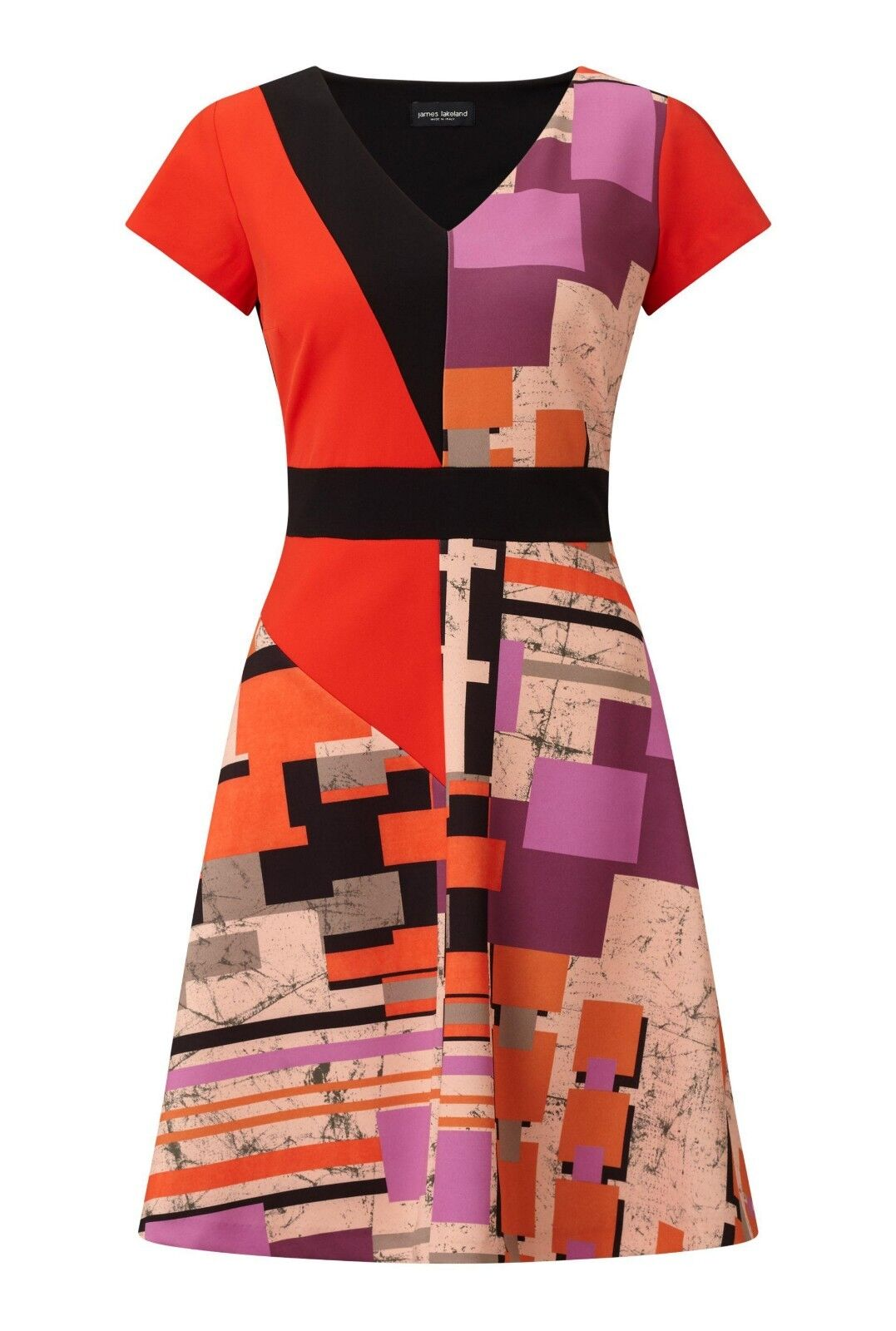 James Lakeland Geometric Print Dress rot Größe UK 12 rrp  DH087 PP 16
